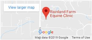 rainland farm equine clinic map